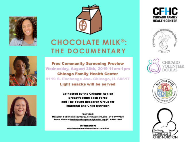 Community Screening of Chocolate Milk: The Documentary in Chicago to celebrate Black Breastfeeding Week 2019